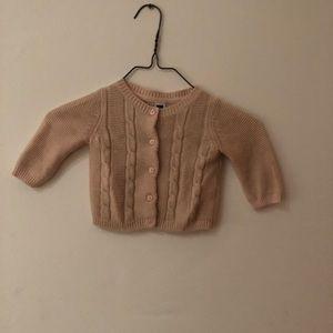 Janie and Jack kid's dusty pink cardigan sweater
